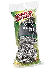 Scotch-Brite Metallic Spiral, Silver, Pack of 3