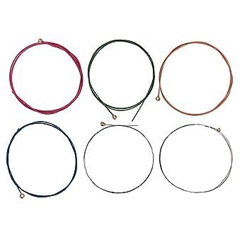 SUPVOX 6 cuerdas de guitarra acústica calibre colorido accesorios ...