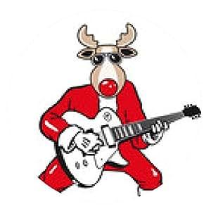 alfombrilla de ratón Rocker Reno de Navidad - ronda - 20cm