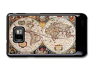 Old Geographic Antique World Map Illustration case for Samsung Galaxy S2