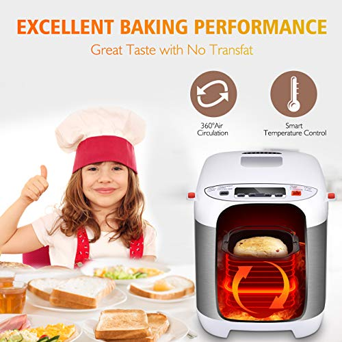 VIVREAL Bread Maker, Automatic Breadmaker Machine 1.5LB, Home Bakery Pro 12 Menus with Gluten Free, 3 Crust Colors 2 Loaf Sizes, 15h Delay Time 1h Keep Warm, Superior Safety ETL Listed Stainless Steel by VIVREAL (Image #1)
