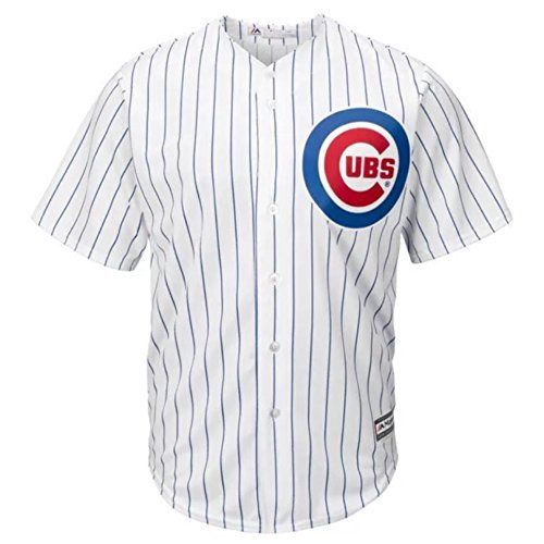 492aad8ab35 Majestic Chicago Cubs MLB Youth Cool Base Home Team Jersey White (Youth  Large 14 16)