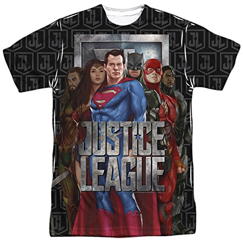 justice+league Products : Justice League Movie The League-S S Adult Poly Crew-White