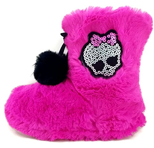 Monster High Girls Boot Slipper With Skull Embellishment (11/12)