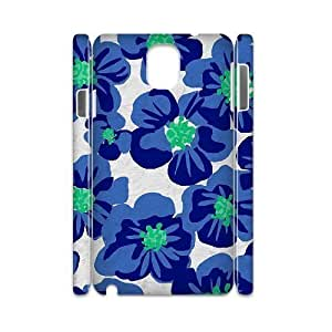 Blue Flowers Personalized 3D Cover Case for Samsung Galaxy Note 3 N9000,customized phone case ygtg613078