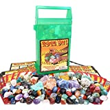 ROCK ON! Geology Game With Rock & Mineral Collection ? Collect And Learn With STEM-based Educational Science Kit In Carrying Case - Amethyst, Rhodonite, Selenite Crystal, Unakite And Lots More