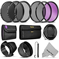 58MM Vivitar UV CPL FLD Filters, Altura Photo ND Filter...