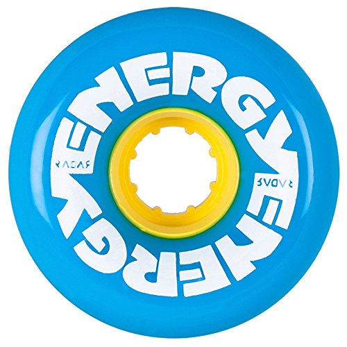 Radar Energy Outdoor Roller Skate Wheels Blue w/Yellow Hub 8pk by Radar