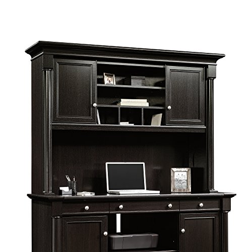 Sauder 420793 Bleeker Street Hutch, Obsidian Oak by Sauder