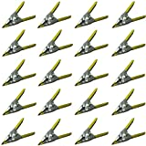"20pcs 2"" Inch long Metal Spring Clips Clamps -Lot of 20-wholesale Bulk- PVC Dipped (2inch, Yellow)"