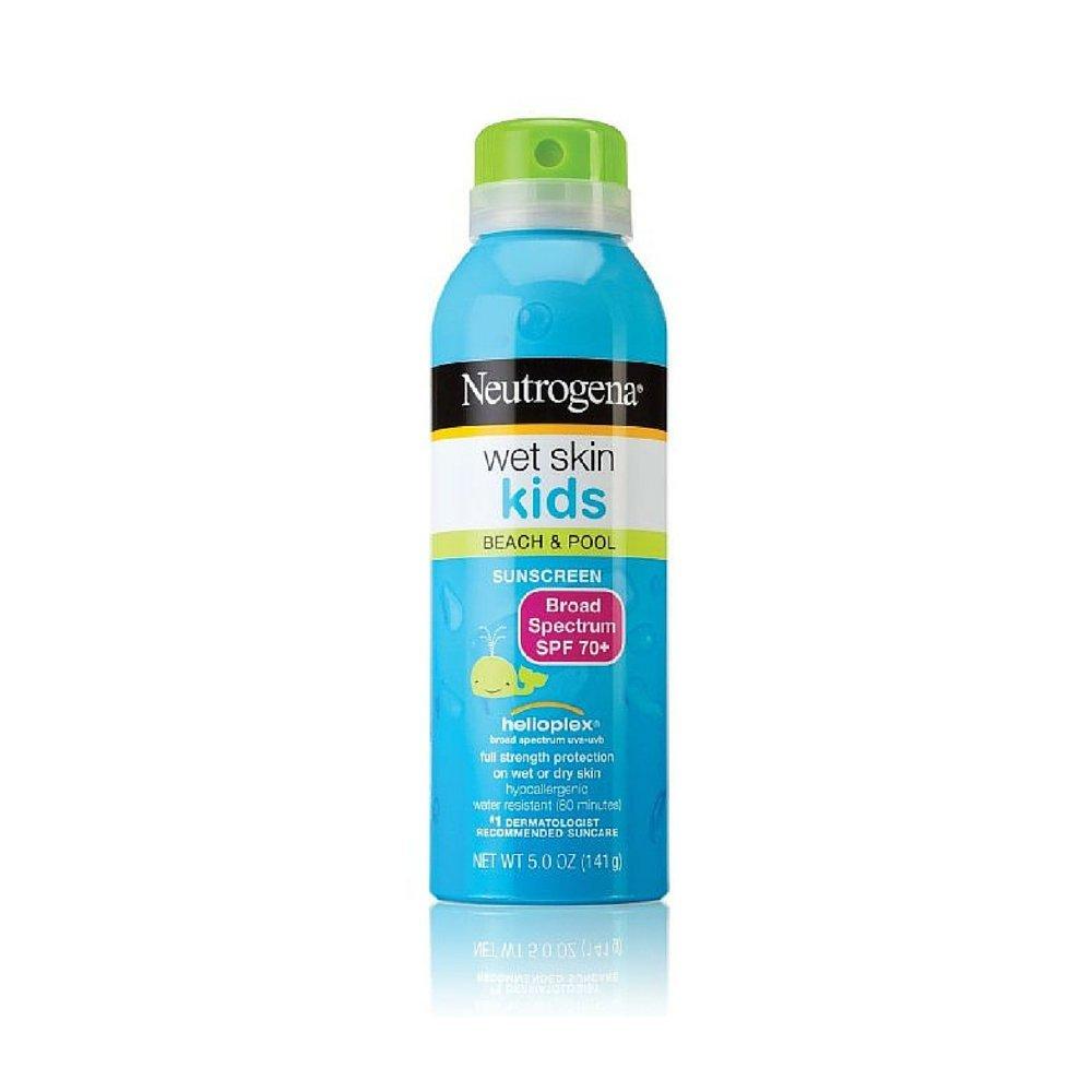 Neutrogena Wet Skin Junior Sunscreen Spray SPF 70, 5 Ounce (Pack of 6)