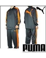 プーマ【PUMA】 日本製 トレーニングウェア  ジャージ 上下セット 862220 チャコール×オレンジ SS(155~164cm) 国内正規品