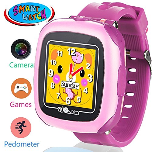 Kids Game Smart Watch for 3-12 Year Boys Girls with Pedometer 3MP Camera 1.5″ Touch Screen 10+ Puzzle Games Children Fitness Wrist Watch Activity Tracker for Travel School Outdoor Birthday Gift Purple Review
