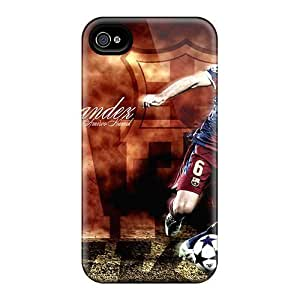 diy zhengPerfect The Player Of Barcelona Xavi Hernandez Is Hitting A Ball Case Cover Skin For iphone 5/5s/Phone Case