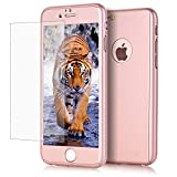 iPhone 6/6S Case, KAMII [Ultra Thin] Hybrid Pc Board with Metallic Luster Coverage Protection 360 Degree All-Round Protection Hard Slim Case for iPhone 6/6S 4.7 inch (Rose Golden)