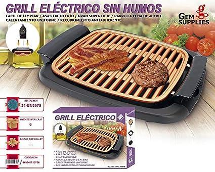 Grill eléctrico sin humo GEM BN3675: Amazon.es: Bricolaje y ...