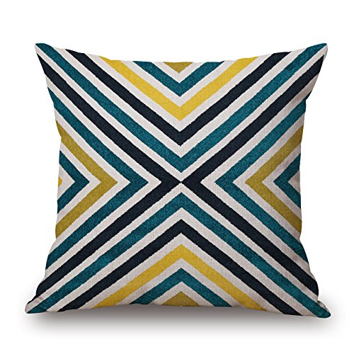 Slimmingpiggy Geometric Cushion Covers 16 X 16 Inches / 40 By 40 Cm Gift Or Decor For Outdoor,lounge,deck Chair,couples,him,husband - Two (Together Mr & Mrs Chair Sashes)