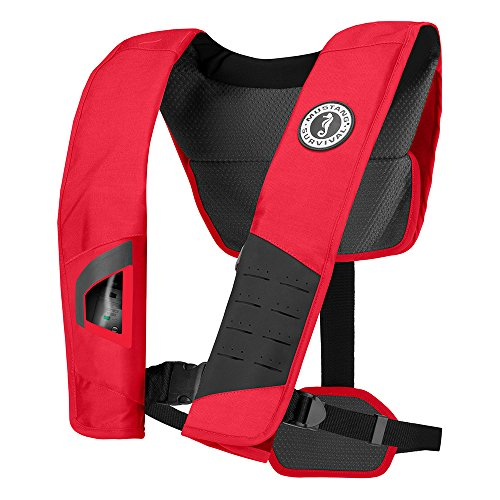 MUSTANG SURVIVAL MD2981 DLX 38 Inflatable Manual PFDLife Jackets & Vests, Red Black