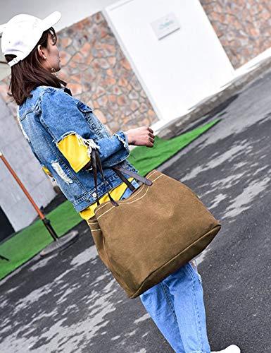 Spalla G Grande Borsa Mano Shopping Tela Borsetta Blue averil Tracolla Donna Avorio A Tote Borse zrzf7q