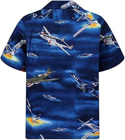 P.L.A. Original Camisa Hawaiana, Airplanes, azul 3XL: Amazon.es: Ropa y accesorios