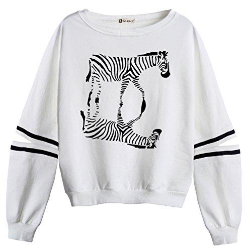 Zebra Print Sweatshirt - 6