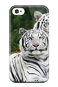 Sanp On Case Cover Protector For Iphone 4/4s White Bengal Tigers