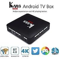ESHOWEE KM8 Pro Android 6.0 TV Box Amlogic S912 64 bit Octa core 2G RAM 8 ROM 4K UHD 2.4G & 5.0G Dual Band WiFi 1000M LAN