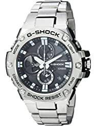 Casio Mens G-Shock Quartz Resin and Stainless Steel Dress Watch, Color Silver-Toned (Model: GST-B100D-1ACR)