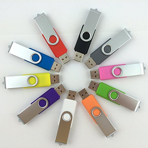 Enfain 10 Pack Color Sorted USB Flash Drive