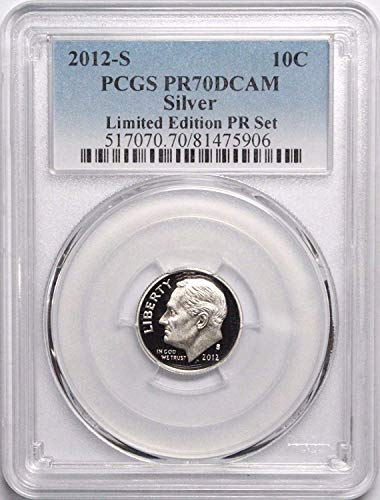 (2012 S Roosevelt Silver Dime 10c PR70DCAM PCGS Limited Edition Proof Set)