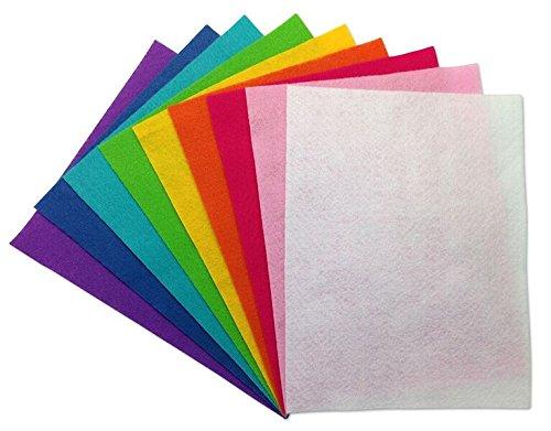 25 Piece Soft Felt Assortment Pack - 9x12 - Rainbow Colors The New Image Group 100-50514