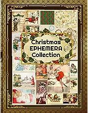 Christmas Ephemera Collection: Vintage Classics Pieces for Your Vintage Journal. Big Christmas Card Assortment (Vintage Ephemera Book)
