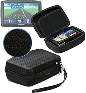 Navitech Black Hard Protective Carry Case Cover For The Tomtom VIA 1605TM