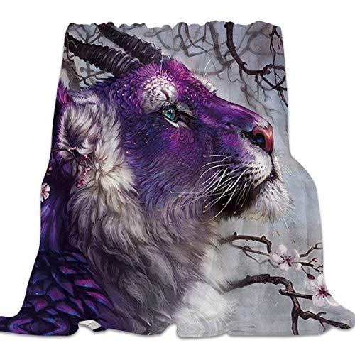 YEHO Art Gallery Flannel Fleece Bed Blanket Super