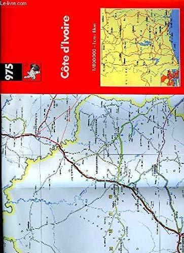 Michelin Maps: Ivory Coast (Africa Main Roads Series)
