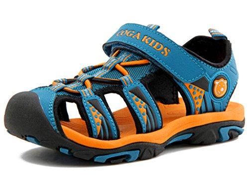 DADAWEN Boy's Girl's Outdoor Athletic Sandal  Dark Blue US S