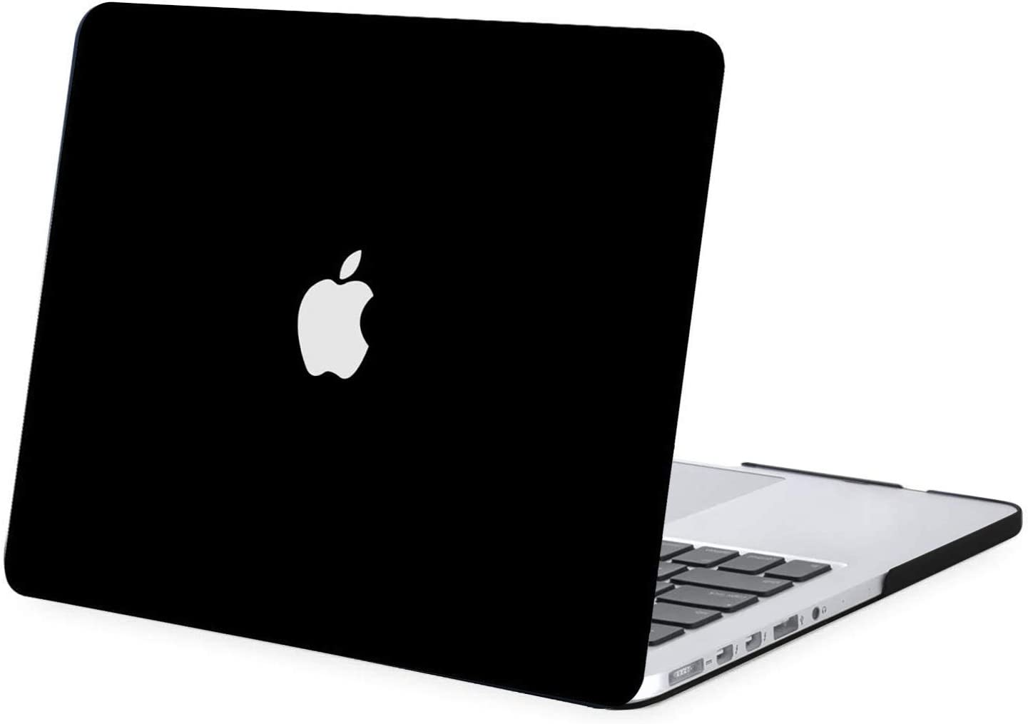 MOSISO Plastic Hard Shell Case Cover Only Compatible with Older Version MacBook Pro Retina 13 Inch (Models: A1502 & A1425) (Release 2015 - end 2012), Black