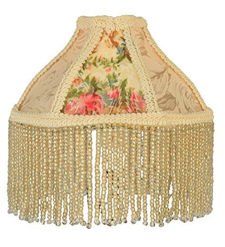 Meyda Tiffany Rose (Meyda Tiffany 25901 Fabric & Fringe Roses Lamp Shade, 6