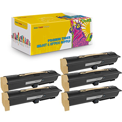 New York TonerTM New Compatible 5 Pack W850H21G High Yield Toner for Lexmark - W850N | W850DN - Black
