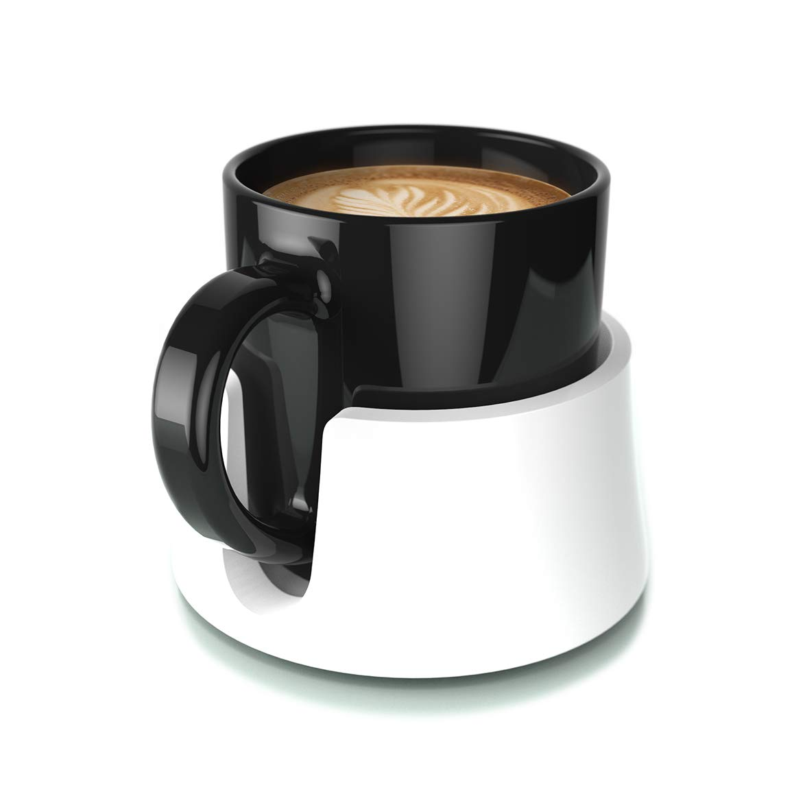 Jet Black The Ultimate Anti-Spill Cup Holder Drink Coaster for Your Table or Desk TableCoaster