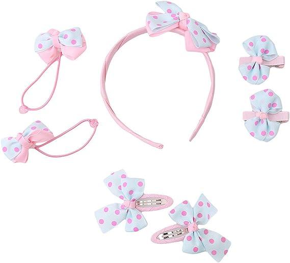 5X Bow Butterfly Hair Clips Girls Hair Grips Kids Hairpin Headwear Accessory LU