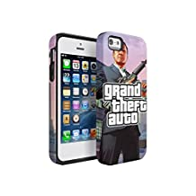 Grand Theft Auto V Michael Durable PC + TPU Bumper Shock-Absorb Protective Hybrid Case Cover For iPhone 5 / iPhone 5s