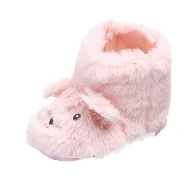 b7135b56a SamMoSon Ropa para bebés niño Primeros Zapatos para niñas Bebé Niña Niño  Dibujos Animados Mullidos Orejas Perro Botas Calientes Primero Caminante  Zapatos ...