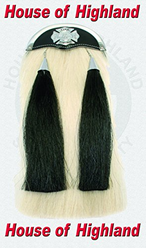Brand New 100% Real Horse Hair Long Sporrans with Chain & Belt with Fair Fighter Badge. by HOH