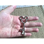 100 Antique Skeleton Key Bottle Opener Silver Wedding Favor Bridal Shower Gift Steampunk Decoration Birthday Party Alice in Wonderland 8