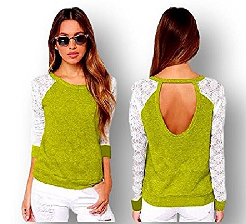 Ducomi - Camiseta de manga larga - para mujer amarillo