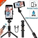 YOKKAO Upgraded Waterproof Selfie Stick Bluetooth Tripod Selfie Stick Extendable for iPhone Xs