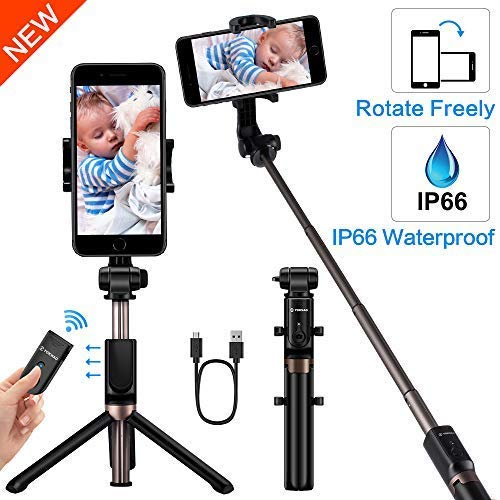 new style 0a1d0 68926 YOKKAO Upgraded Waterproof Selfie Stick Bluetooth Tripod Selfie Stick  Extendable for iPhone Xs MAX iPhone 8 iPhone 8 Plus iPhone 7 Plus Galaxy  Note S9 ...