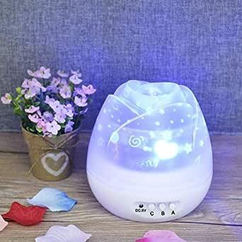 XLWWLG Lámpara De Proyector Led Flower Bud Star Lámpara De Mesa ...