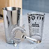 KegWorks 3-Piece Cocktail Shaker Kit